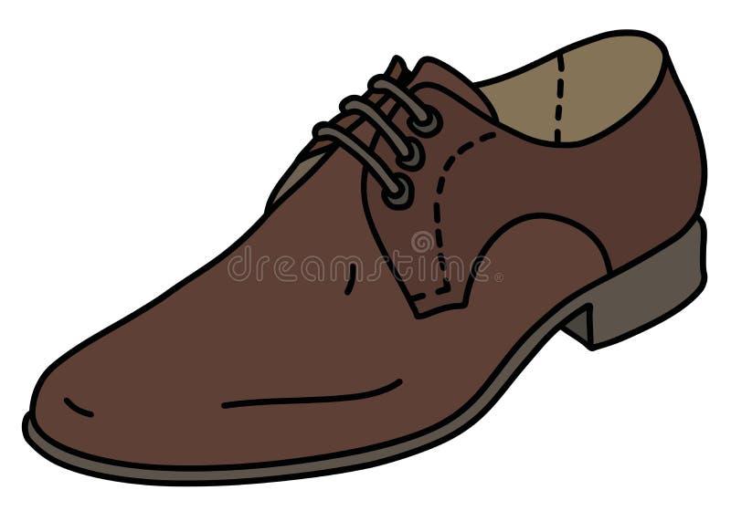 El zapato de cuero marrón ilustración del vector