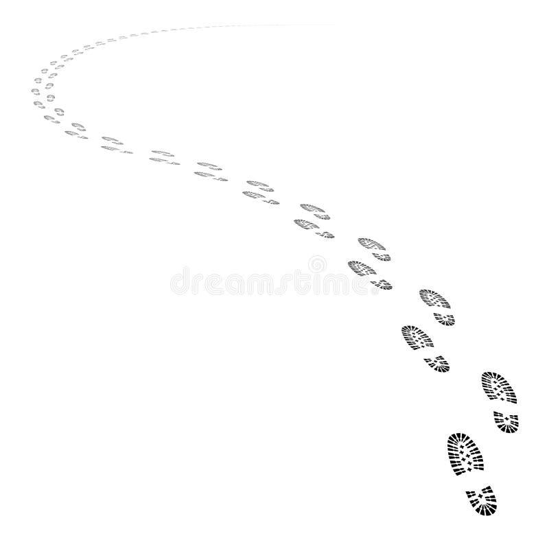 El zapato del vector sigue el sendero ilustración del vector