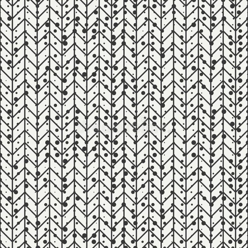 El zigzag abstracto inconsútil geométrico del galón raya el modelo Inconformista del vintage rayado Papel de embalaje scrapbook V ilustración del vector