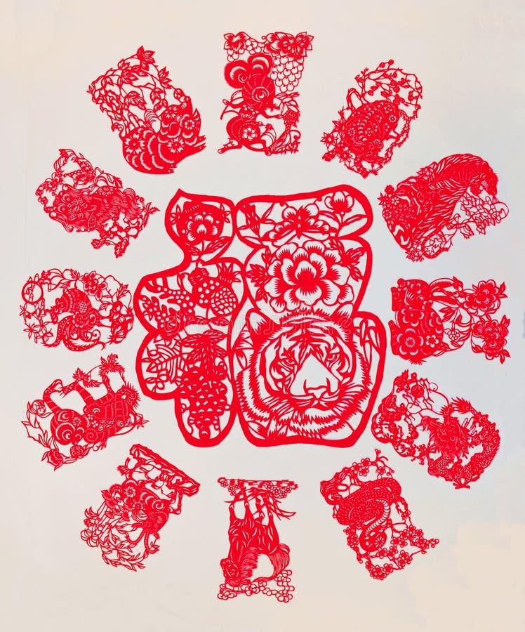 El zodiaco chino imágenes de archivo libres de regalías