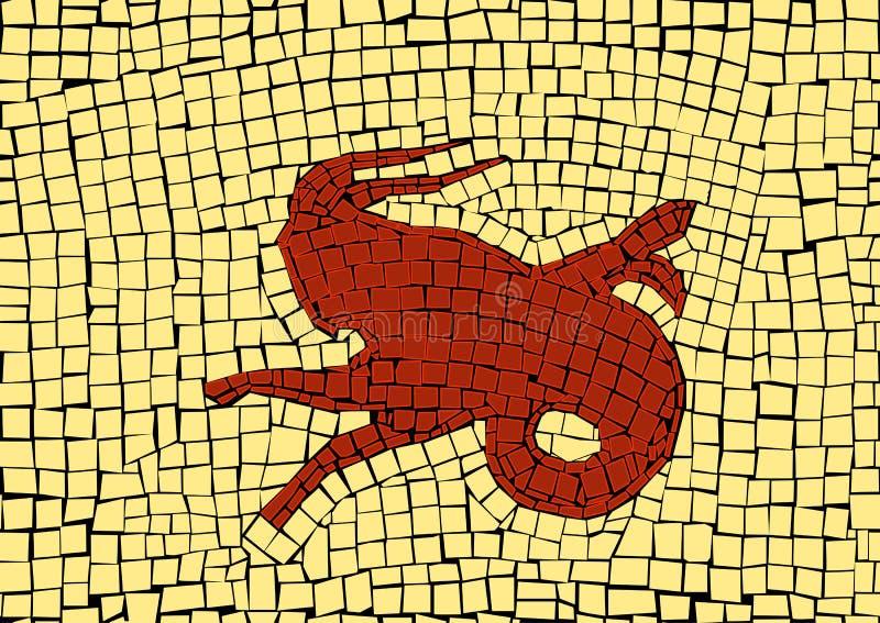 El zodiaco del Capricornio firma adentro un mosaico ilustración del vector