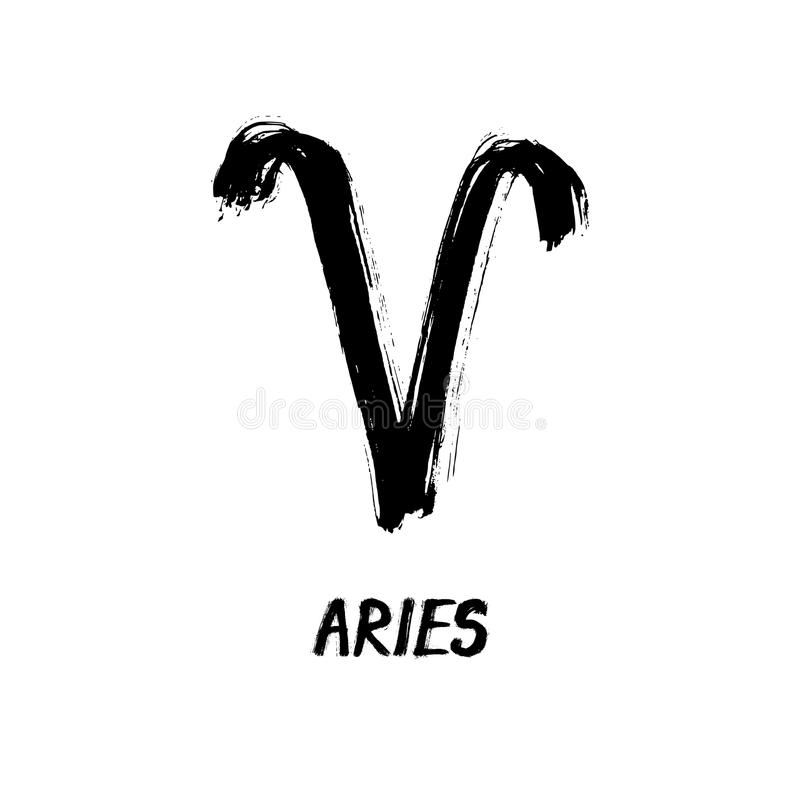 El zodiaco del Grunge firma - aries - al Ram libre illustration