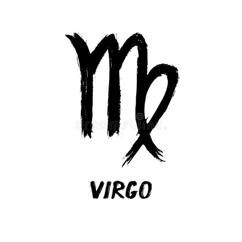 El zodiaco del Grunge firma - virgo - a la doncella stock de ilustración