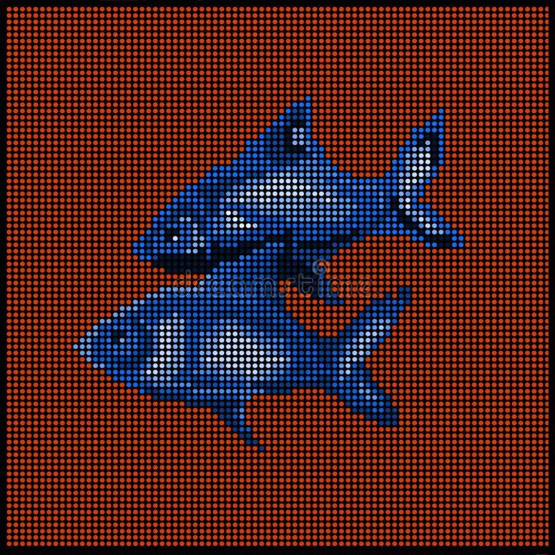 El zodiaco firma - los pescados - ilustración del vector