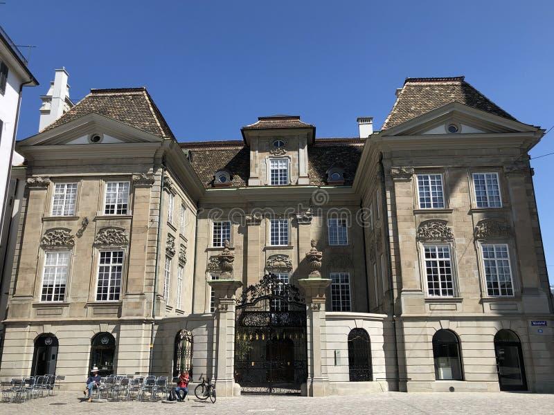 El zur Meisen - casa de Zunfthaus del gremio en el cuarto de Lindenhof en Zurich fotos de archivo