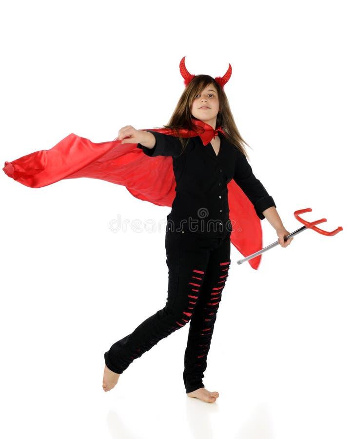 Ela-Diabo do Preteen fotografia de stock