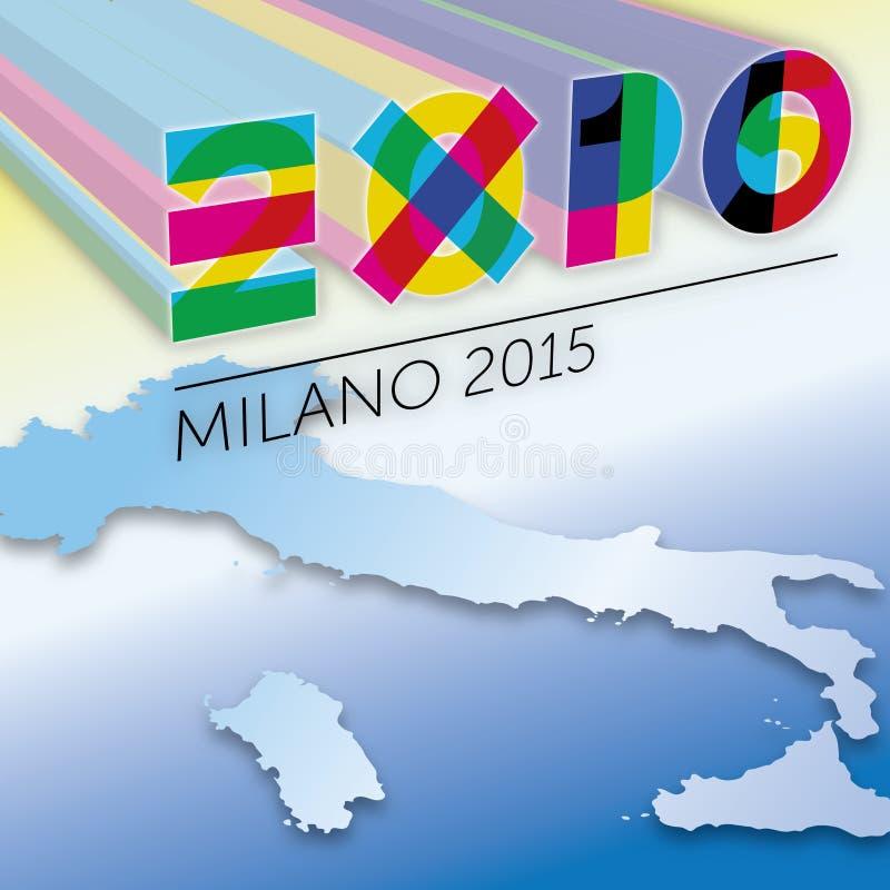 Elaboración del gráfico de Logo Expo 2015 libre illustration