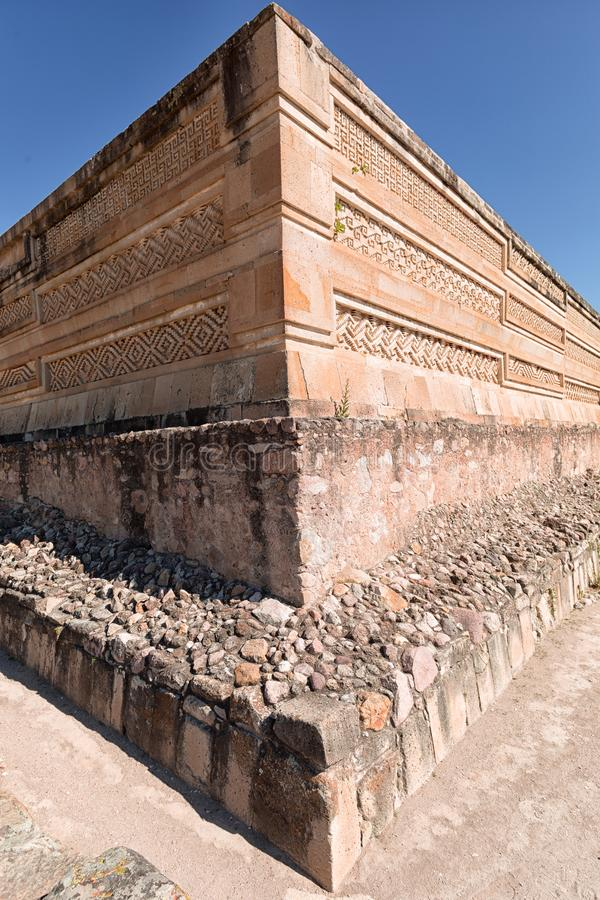 Mitla zapotec ruins closeup Oaxaca Mexico royalty free stock photo