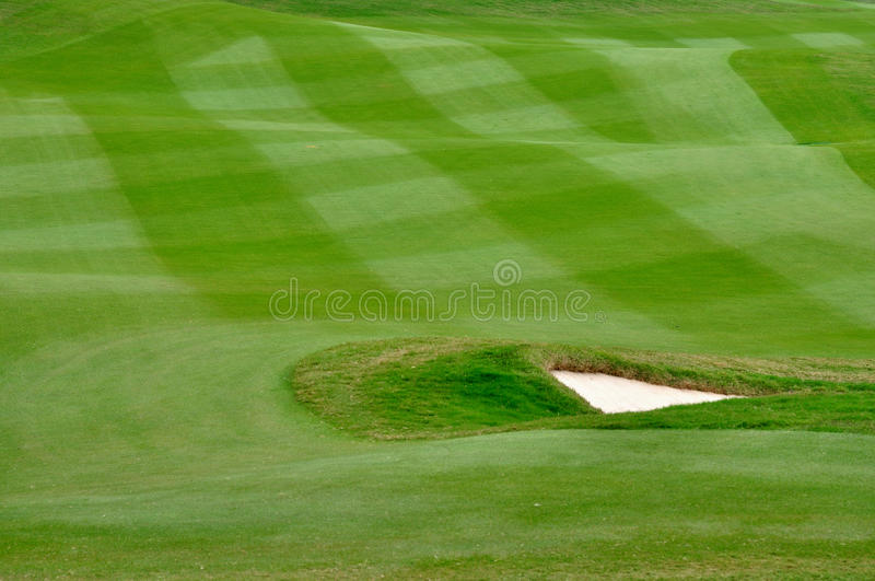 Elaborate lawn of golf court royalty free stock photography