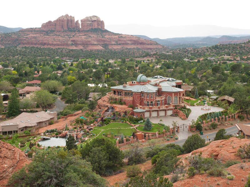 Download Elaborate Mansion In Sedona, Arizona Stock Images - Image: 21977264