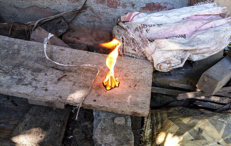 Elaborazione del fuoco fotografia stock
