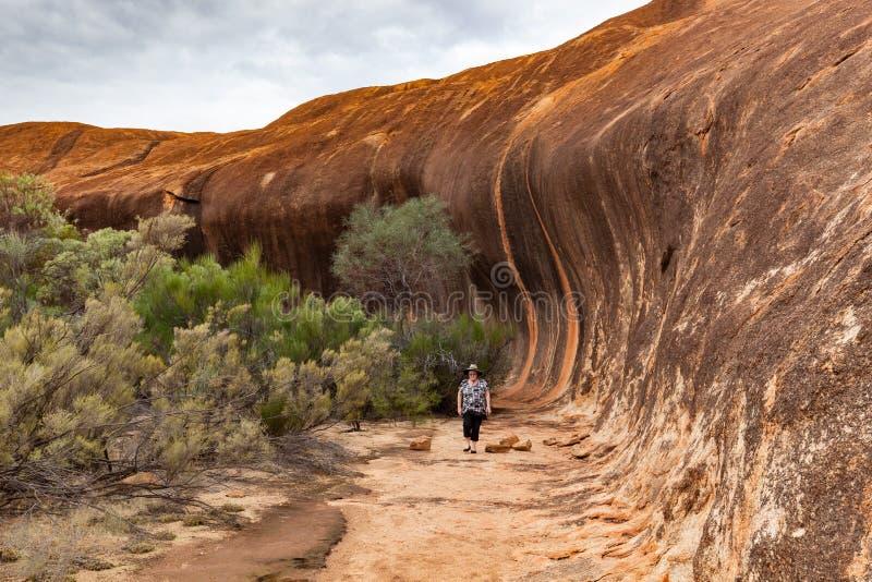 Elachbutting岩石,西澳州 免版税库存照片