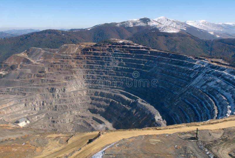 Elacite Mine - Aerial view Bulgaria stock images