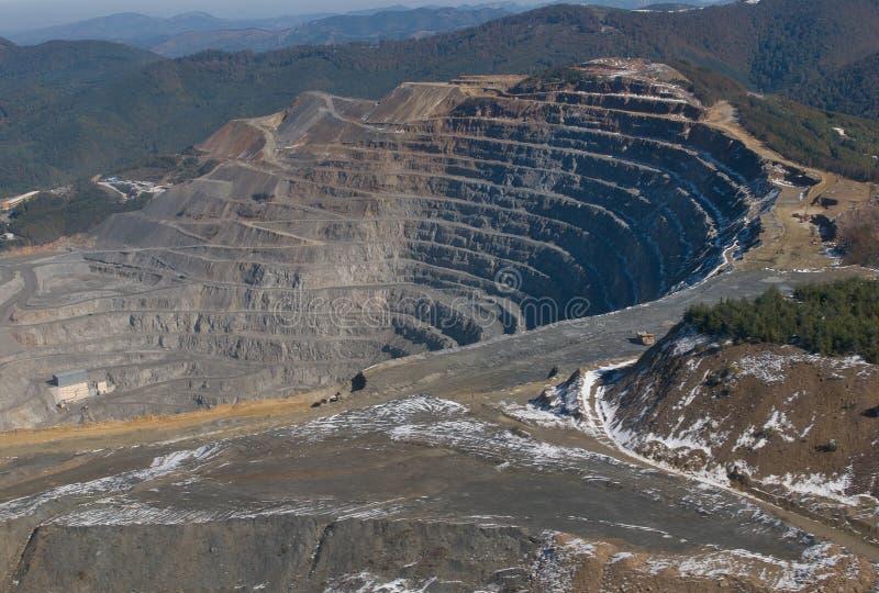 Elacite Mine - Aerial view Bulgaria stock image