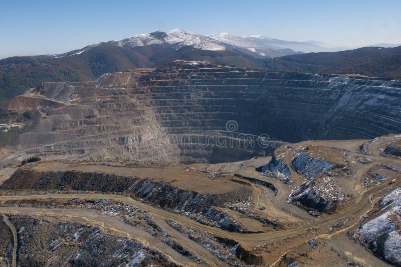 Elacite Mine - Aerial view Bulgaria stock photos