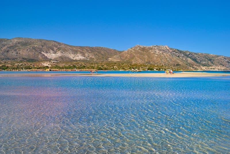 Elafonisi海滩在克利特希腊 免版税库存图片