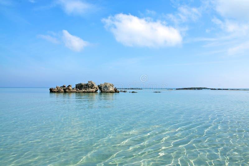 Elafonisi海滩,克利特 免版税库存照片