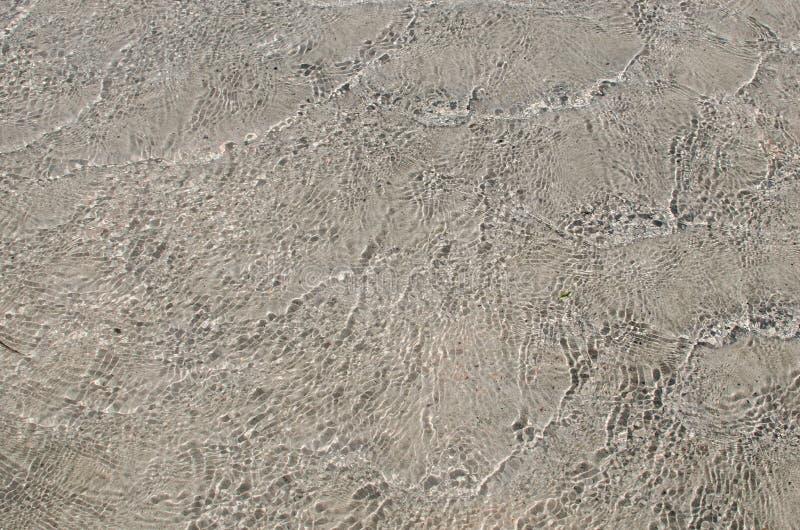 Elafonisi海滩,干尼亚州,克利特,希腊-细节在海 库存照片