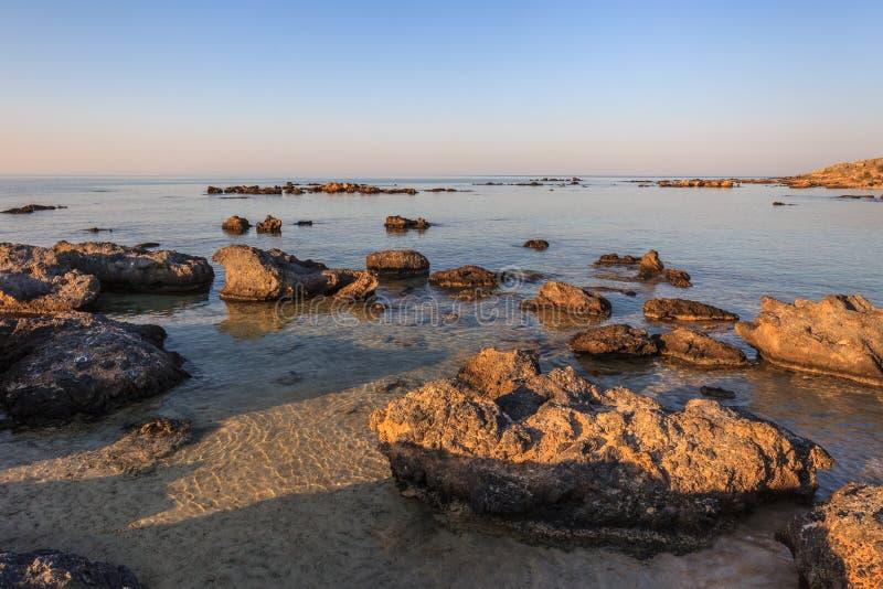 elafonisi Крита береговой линии Крит Греция стоковое фото rf