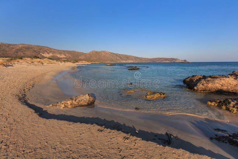 elafonisi Крита береговой линии Крит Греция стоковое изображение