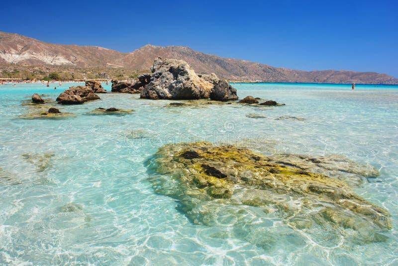 elafonisi Крита пляжа стоковые изображения