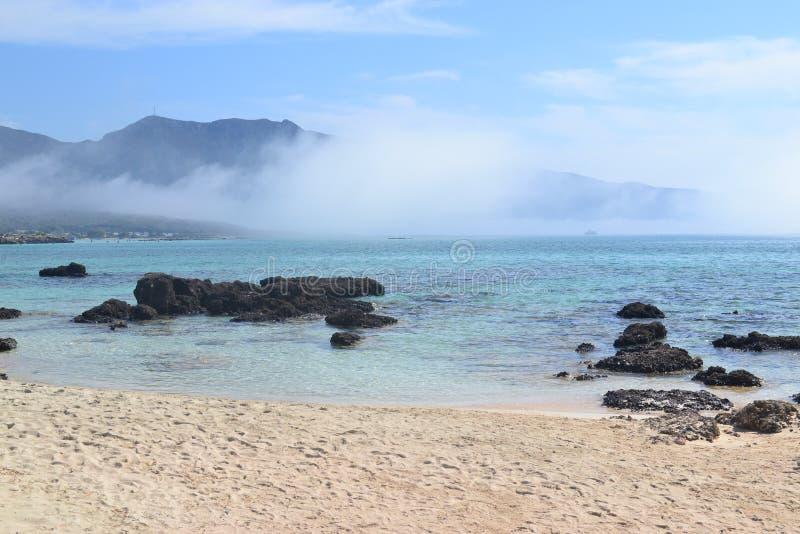 Elafonisi, остров оленей, как рай дальше стоковое изображение rf