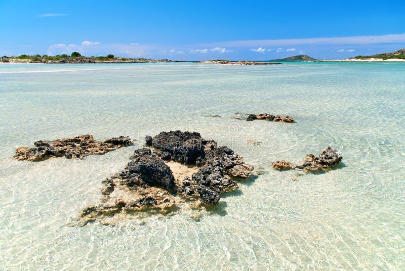 elafonisi пляжа стоковые фотографии rf