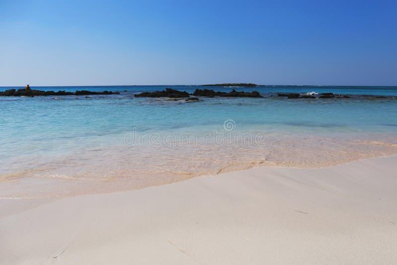 Elafonisi plaża, Crete wyspa, Grecja obraz stock