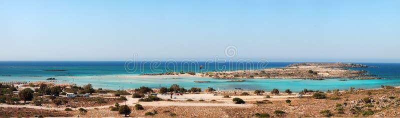 Elafonisi strand (Crete, Grekland) royaltyfri bild