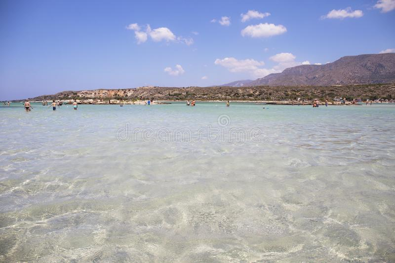 Elafonisi strand, Kretaö, Grekland arkivfoto