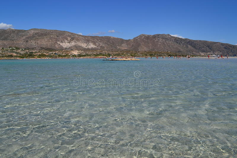 Elafonisistrand, Kreta, Griekenland stock foto's
