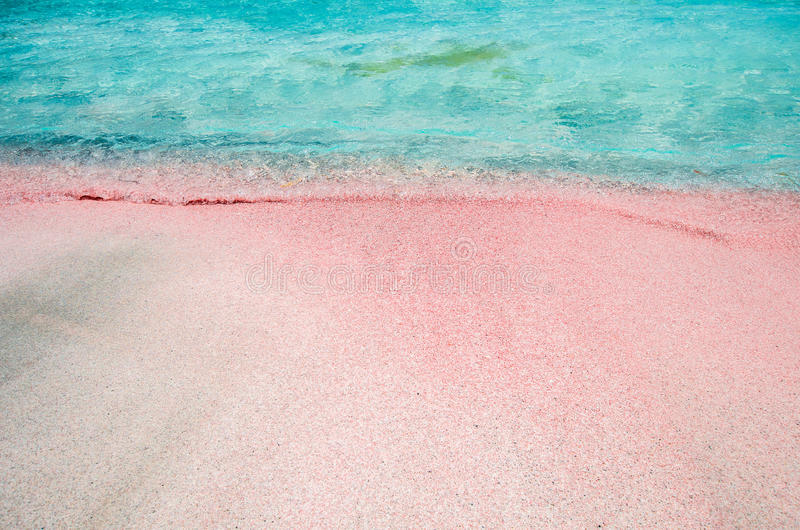 Elafonissi盐水湖,克利特海岛,希腊 图库摄影