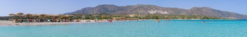 Elafonissi strand, Kreta arkivfoto