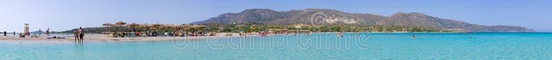 Elafonissi strand, Kreta arkivfoton