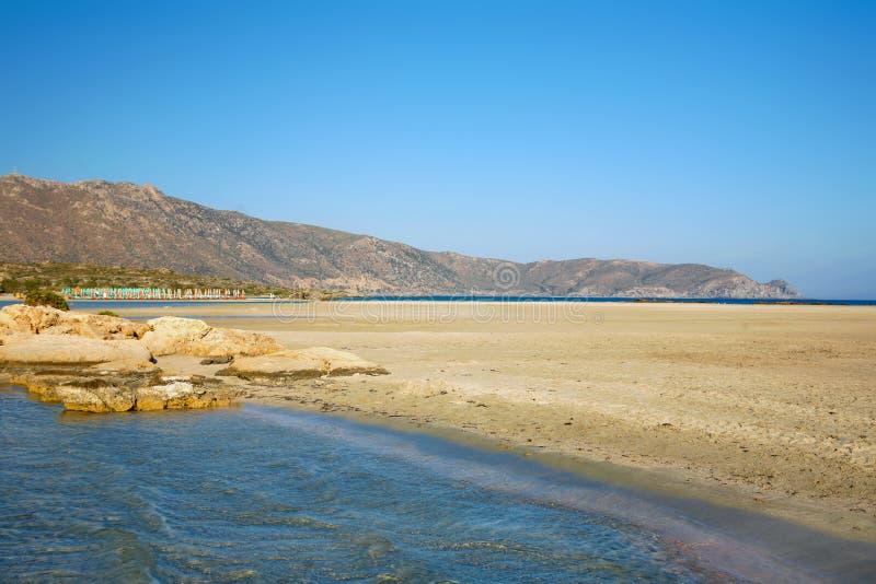 Elafonissos海滩 图库摄影
