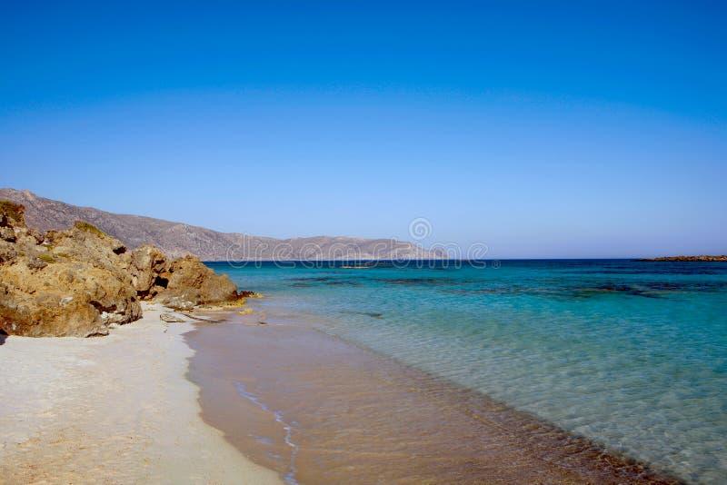 Elafonissos plaża obrazy stock