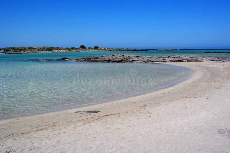 Elafonissos plaża, Crete, Greece zdjęcie stock