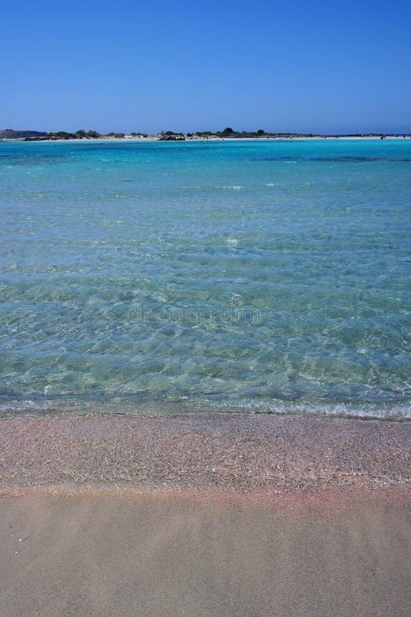 Elafonissos plaża, Crete, Greece obrazy stock