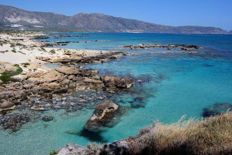 Elafonissos plaża, Crete, Greece zdjęcia stock