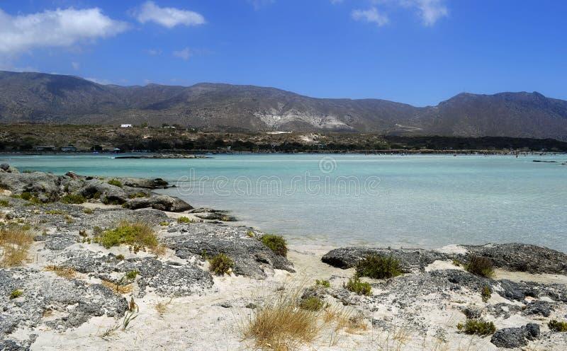 Elafonissos plaża w Grecja obraz stock