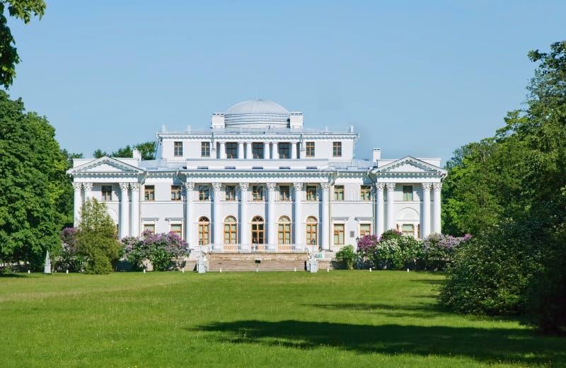 elagin宫殿彼得斯堡俄国圣徒 库存照片