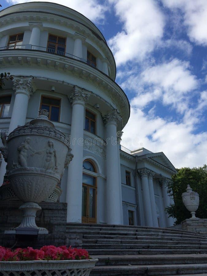 Elaginostrovsky pałac w St Petersburg zdjęcia stock