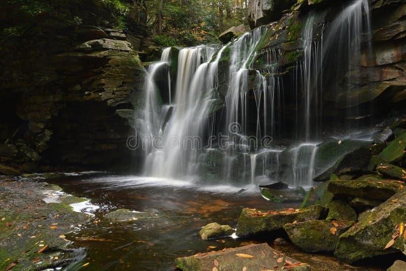 Elakala nedgångar, West Virginia arkivfoto