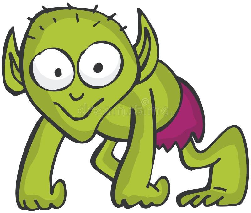 elakt troll royaltyfri illustrationer