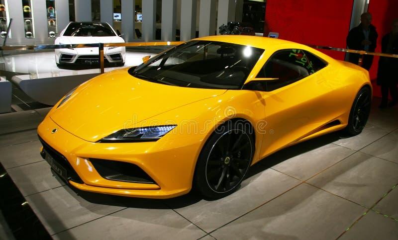 ELAN van Lotus bij de Show van de Motor van Parijs stock fotografie