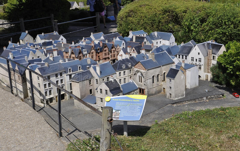 Elancourt F,July 16th: Place Plumereau a Tours in the the Miniature Reproduction of Monuments Park from France. Place Plumereau a Tours in the Miniature royalty free stock images