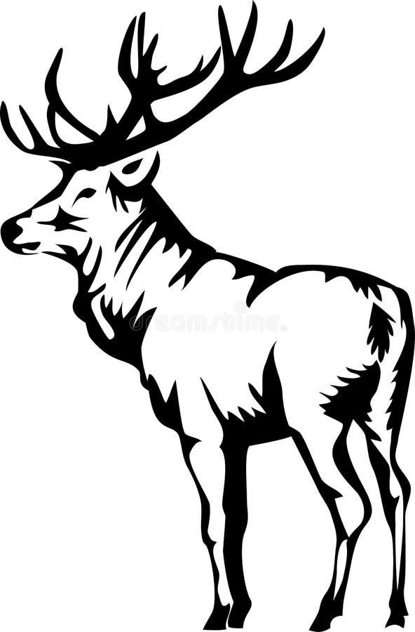 elanden vector illustratie