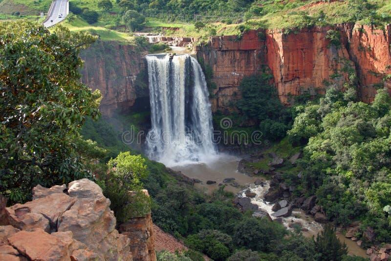 Elands Fluss-Wasserfall stockbilder