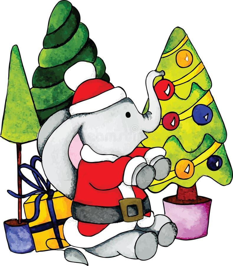 elaphant的圣诞老人 免版税库存照片