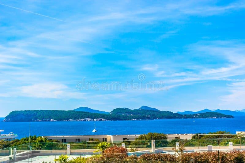 Elaphiti海岛在克罗地亚,亚得里亚 免版税库存照片